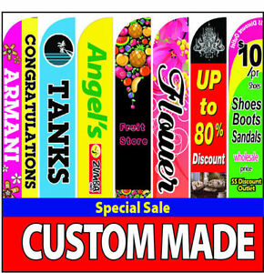 15ft Custom Double side Super Feather Swooper Full Color Flag Pole Spike