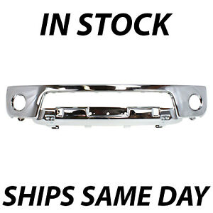 New Chrome Steel Front Bumper Fascia For 2005 2008 Nissan Frontier W Fog 05 08