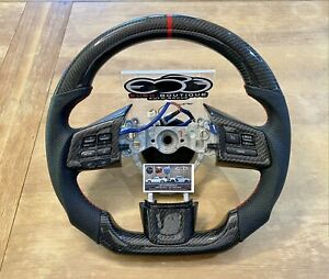 Subaru Wrx Sti Oem Flat Bottom Thicker Grip Carbon Fiber Steering Wheel