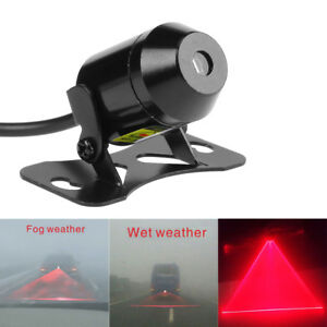 12v 24v Motorcycle Car Led Laser Fog Light Tail Rear Anti Collision Warning Lamp