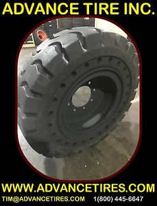 Solid Skid Steer Tires 750 16 La With Rim 10 16 5 Skid Steer Tires Flat Proof