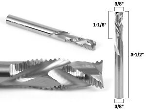 3 8 Dia Compression Spiral Rougher End Mill Cnc Router Bit 3 8 Shank Yoni