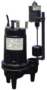 Champion Pump 1 2 Hp Submersible Sewage Pump Cpw5 12 V