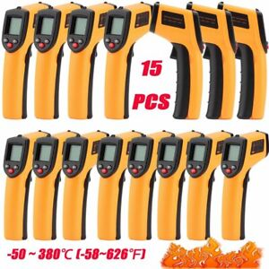 Lot15 Infrared Laser Ir Temp Lcd Digital Heat Meter Gun Digital Thermometer Hx