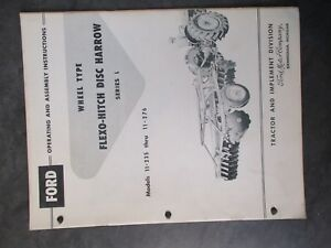 Ford Flexo hitch Disc Harrow Operating And Assembly Instructions