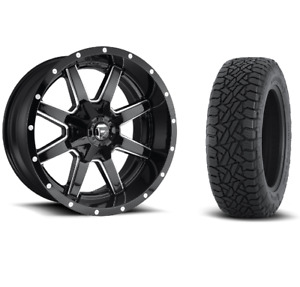 20 20x10 Fuel D610 Maverick Black Wheels 33 At Tire Package 6x5 5 Toyota Chevy