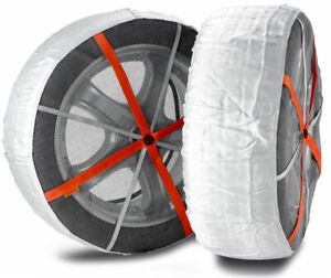 Autosock Snow Socks For Truck forklift Easy To Use In Snow And Ice Al69 pair