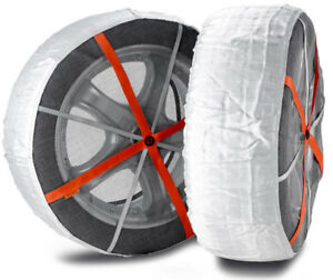 Autosock Snow Socks For Truck forklift Easy To Use In Snow And Ice Al84 pair