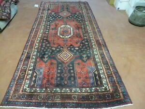 4 X 9 Antique Hand Made Persian Tribal Kurd Bidjar Bijar Goltog Wool Rug 605