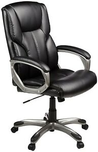 Big And Tall Black Office Chair High Back Executive Leather