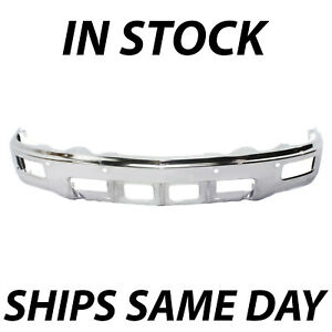 New Steel Chrome Front Bumper For 2014 2015 Chevy Silverado 1500 W Fog Park
