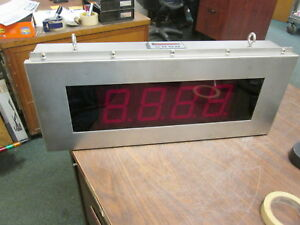 American Led gible Stainless Steel Led Counter So 11063 001 4 digit Used