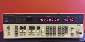 hp Agilent 8656b 100 Khz To 900 Mhz Synthesized Signal Generator Tested