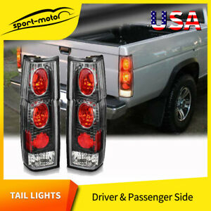 Rear Brake Tail Lights Pair For Nissan Hardbody Pickup D21 Jdm Clear Lens