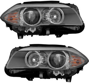 Halogen Headlights Headlight Assembly New Pair Set For 11 13 Bmw 528 530 535 550