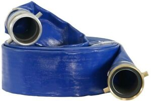 Duromax 3 In X 50 Ft Water Pump Liquid Transfer Drain Flexible Discharge Hose