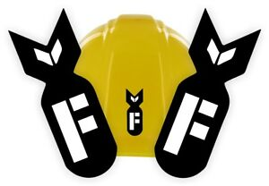F BOMB Funny Hard Hat Stickers | Welding Helmet Decals | Motorcycle Toolbox USA