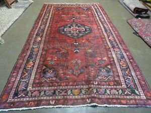 5 X 10 Antique Hand Made Persian Tribal Kurd Mahal Bidjar Bijar Wool Rug 477