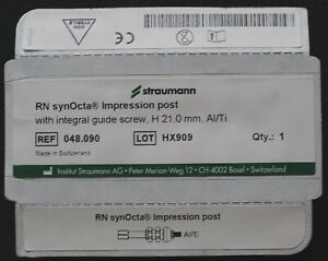 Dental Implant Parts Straumann Rn Synocta Impression Post With Intergral Guide