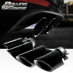 Black Exhaust Muffler Tailpipe Tips For Porsche Macan Base 2 0t Upgrade 2014 18
