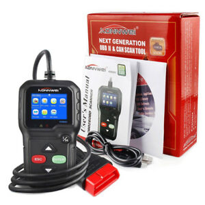Kw680 Diagnostic Scanner Code Reader Car Tool Can Obdii Obd2 Eobd Fault Scanner
