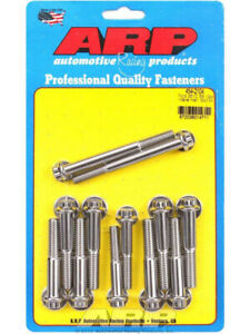 Arp Intake Manifold Bolt Kit 12pt Stainless Ford 302 351 Cleveland 454 2104