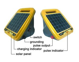 Electric Fence Energizer Solar Charger With Lithium Battery Agriculture Farm