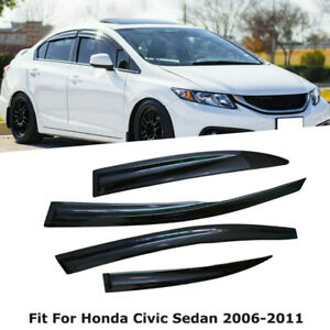 Window Rain Guard Vent Visor For Honda Civic 2006 2007 2008 2009 2010 2011 2012