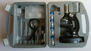 Ioptron Microscope Kit 80 Pieces In Case Slides Files Magnifying Glass