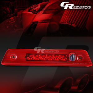 Red Housing Full Led 3rd Third Tail Brake Light Lamp Bar For 08 12 Jeep Liberty