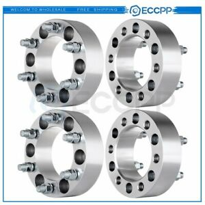 4 2 Chevy 6 Lugs Wheel Spacers Adapters Fits Silverado 1500 Tahoe Suburban