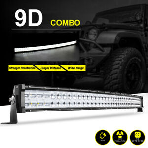 42inch 560w Curved Led Work Light Bar Flood Spot Offroad Lamp 40 Truck 4x4 Suv