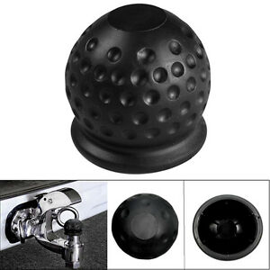 50mm Tow Ball Cover Caps Towing Hitch Caravan Trailer Towball Protect Black 1pc