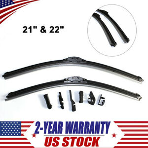 Wiper Blades 2x Auto Latitude Water Repellency 21 22 Inch New Easy To Install