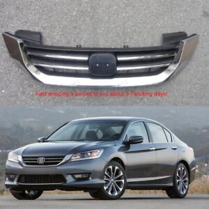 Front Bumper Upper Grille Chrome For Honda Accord 2013 2014 2015