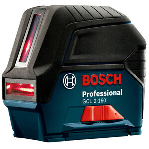 Bosch Gcl2160srt Self leveling Cross Line Laser W Plumb Points Reconditioned