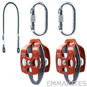 Polyester Eye 2 Eye 8mm Prusik Cord Arborist Tree Climbing 32kn Pulley Sets