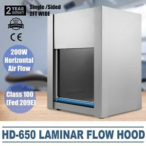 110v 50hz Hd 650 Horizontal Laminar Flow Hood 60cm Clean Bench Workstation New