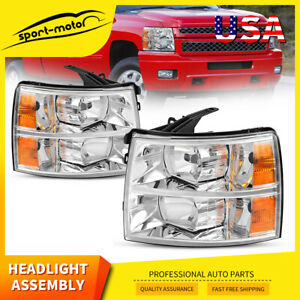 Headlights Assembly For 2007 2014 Chevy Silverado 1500 2500 Hd 3500 Hd Headlamps