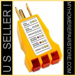 Free S h us Seller iit 26400 3 wire 125 Vac receptacle outlet ground Tester
