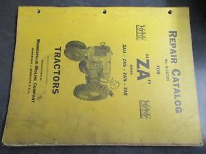 Minneapolis Moline Za Series Tractor Repair Catalog