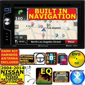 Gps Navigation Bluetooth Usb Cd Dvd Radio Stereo Pkg Fits 04 14 Nissan Truck Suv