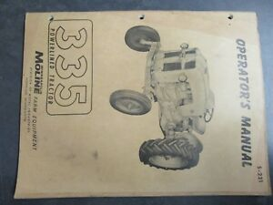 Minneapolis Moline 35 Powerlined Tractor Operator s Manual