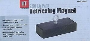 250 Lb Magnetic Pull Retrieving Magnet Retrieval Scrap Metal Nail Underwater Etc