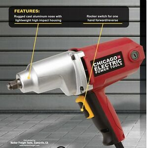 New Impact Wrench 1 2 In Electric Heavy Duty 230ft Lb Torque