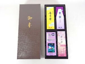 Japanese Antique Vintage Buddhist Altar Shrine Incense Stick Candle Set Chacha