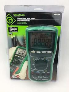 Greenlee Enhanced Smart Meter Series Digital Multimeter Dm 810a With Case