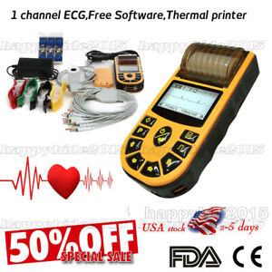 Usa Sale Ecg Machine 1 channel 12 lead Ecg With Pc Software ce Fda Proved