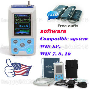 24h Nibp Holter Ambulatory Blood Pressure Monitor With 3 Cuffs pc Software