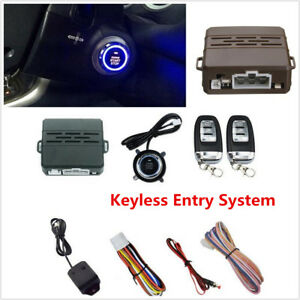 Car Suv Vibration Alarm Security Keyless Entry Push Button Remote Engine Starter